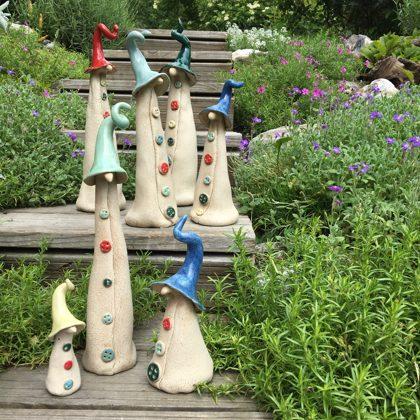 Keramikfiguren, Zaunhocker, Steinzeug, Preis €5,- bis 26,- je nach Größe