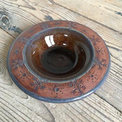 Teelichtschale, Naturton rotbraun, Preis €7,-