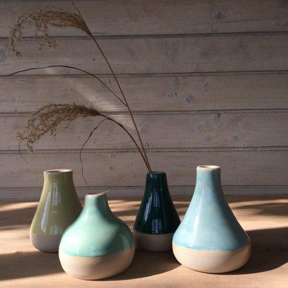 Vasen, Steinzeugton, Preis €6,- bis 8,- je nach Größe