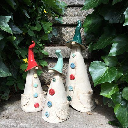 Keramikfiguren, Zaunhocker, Steinzeug, Preis €12,- bis 24,- je nach Größe
