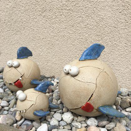 Keramikfiguren Steinzeug, Preis €14,- bis 28,- je nach Größe