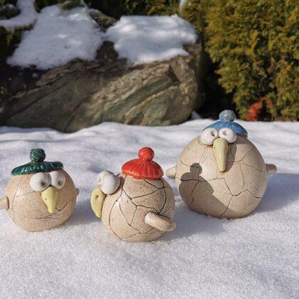 Keramikfiguren Steinzeug, Preis €16,- bis 26,- je nach Größe