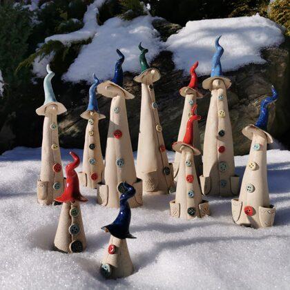 Keramikfiguren, Zaunhocker, Steinzeug, Preis €7,- bis 32,- je nach Größe
